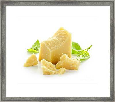 Parmesan Cheese Framed Print by Elena Elisseeva