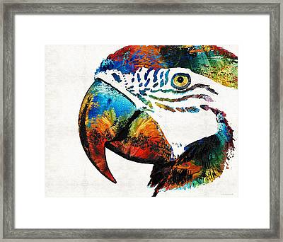 Parrot Head Art By Sharon Cummings Framed Print by Sharon Cummings