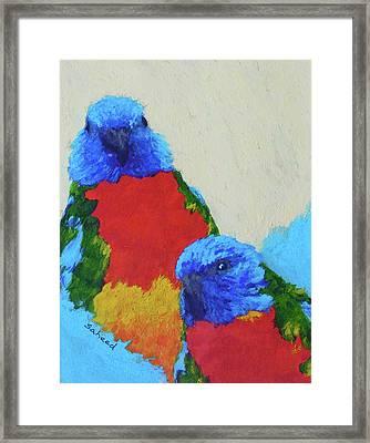 Parrot Pair Framed Print by Margaret Saheed