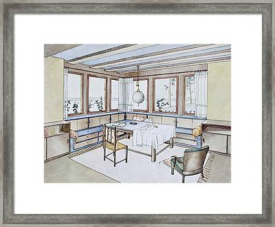 Part Of A Living Room, From Modern Framed Print by W. Schneider