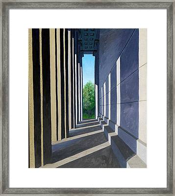 Parthenon Shadows Framed Print by Dillard Adams