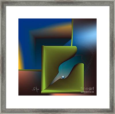 Particle Framed Print by Leo Symon