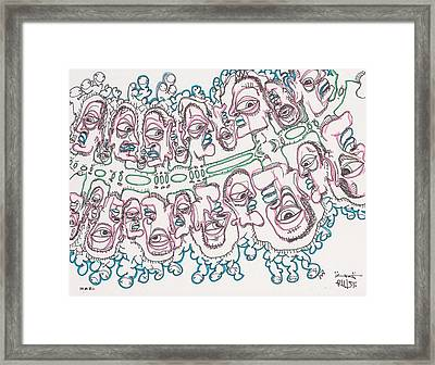 Particle People Framed Print by Robert Wolverton Jr