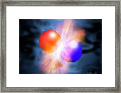 Particles Colliding Framed Print by Victor De Schwanberg