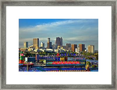 Atlanta Braves Baseball Turner Field  Framed Print by Reid Callaway