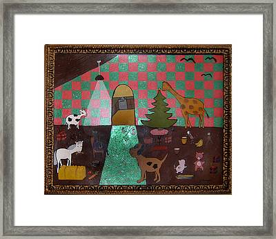 Party Animals  Framed Print by Yvonne  Kroupa