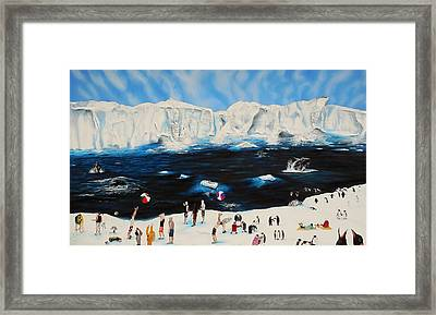 Party At Antarctic Framed Print by Raymond Perez