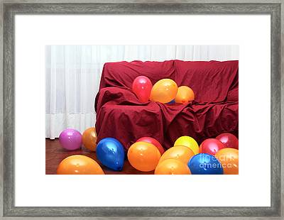 Party Balloons Framed Print by Carlos Caetano