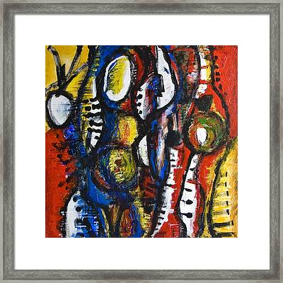 Party On Framed Print by Alexandra Jordankova