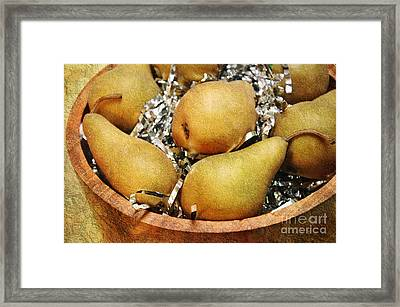 Party Pears Framed Print by Andee Design
