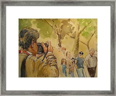 Party Photographer Framed Print by Juan  Bosco
