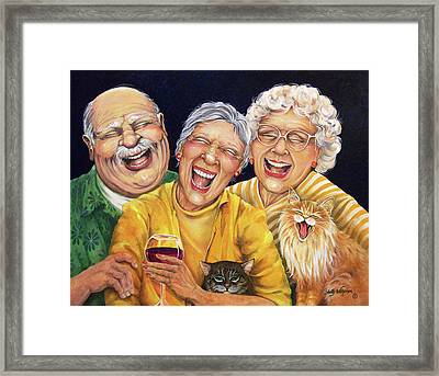 Party Pooper Framed Print by Shelly Wilkerson