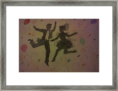 Party Silhouettes Framed Print by Christy Saunders Church