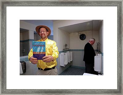 Paruresis Self Help Book Framed Print by Thierry Berrod, Mona Lisa Production