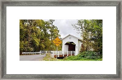 Parvin Covered Bridge Framed Print by Ansel Price