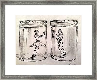 Pas De Deux Framed Print by H James Hoff
