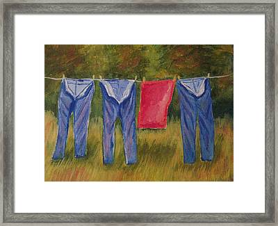 Pa's Trousers Framed Print by Belinda Lawson