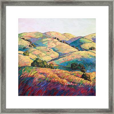 Pasoscapes Diptych Left Panel Framed Print by Erin Hanson