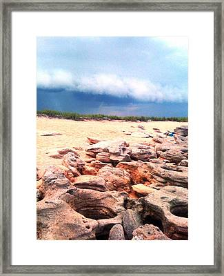 Passing Storm Framed Print by Julie Wilcox