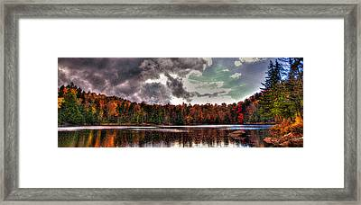 Passing Storm Over Cary Lake Framed Print by David Patterson