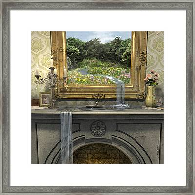 Passing Through Framed Print by Cynthia Decker