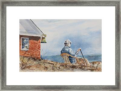 Passing Time Framed Print by Monte Toon