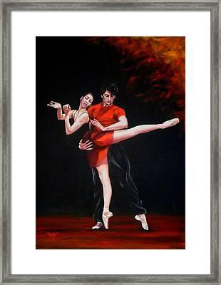 Passion In Red Framed Print by Maren Jeskanen