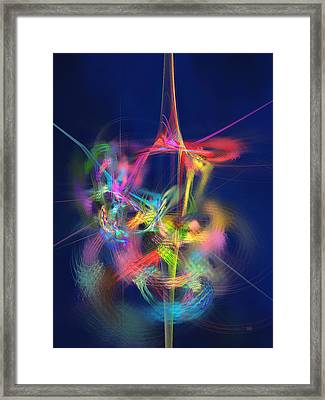 Passion Nectar - Circling The Flower Of Paradise Framed Print by Menega Sabidussi