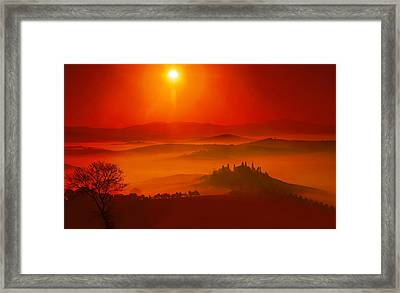 Passion Of Dawn Framed Print by Midori Chan