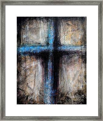 Passion Of The Cross Framed Print by Michael Grubb