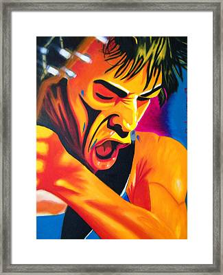 Passion Play Framed Print by Santiago Rodriguez