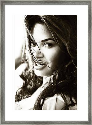 Passionate. Seduction Series Framed Print by Jenny Rainbow