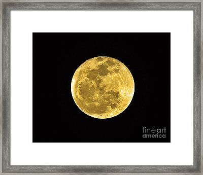 Man In The Moon Framed Print featuring the photograph Passover Full Moon by Al Powell Photography USA