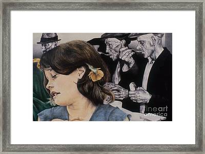 Past Present And Future Tense Framed Print by Phil Welsher