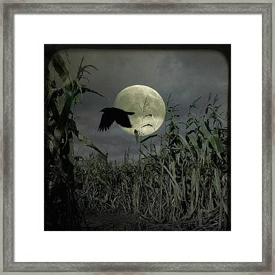 Past The Moon Framed Print by Gothicolors Donna Snyder