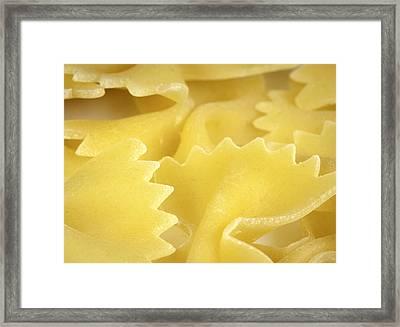 Pasta Close Up Framed Print by Modern Art Prints