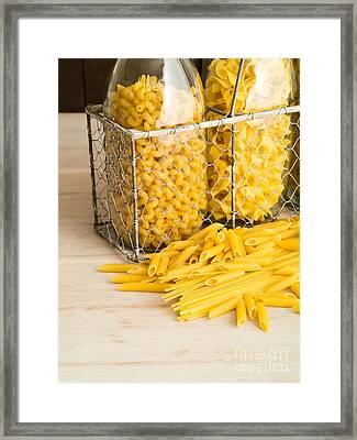 Pasta Shapes Still Life Framed Print by Edward Fielding