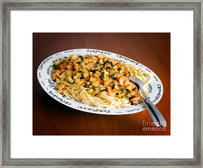 Pasta Framed Print by Sinisa Botas