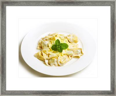 Pasta With Cheese Framed Print by Sinisa Botas