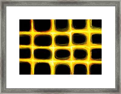 Pastel Golden Grid Pattern Framed Print by Kazuya Akimoto