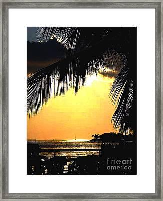 Pastel Hue In Key West Framed Print by Susanne Van Hulst
