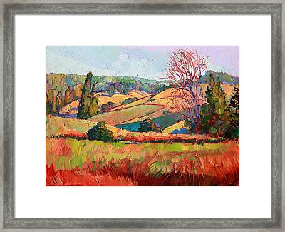 Pastel Lights Framed Print by Erin Hanson