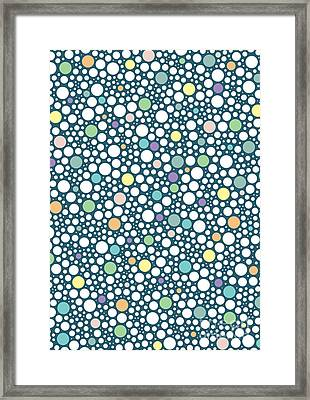 Pastel Puzzle Bubble Blue Framed Print by Freshinkstain