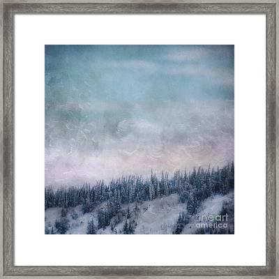 Pastel Skies Framed Print by Priska Wettstein