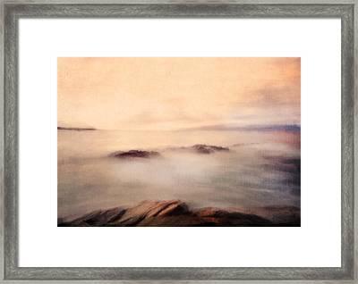 Pastel Soft Waters  Framed Print by Georgiana Romanovna