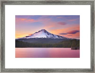Pastel Sunset Framed Print by Darren  White