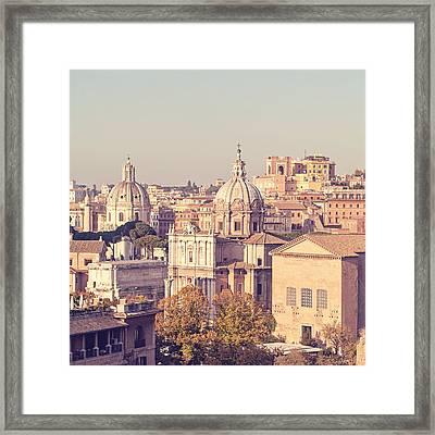 Pastello - Rome, Italy Framed Print by Melanie Alexandra Price