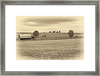 Pastoral Pennsylvania Sepia Framed Print by Steve Harrington