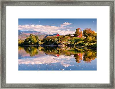 Pastoral Reflection Framed Print by Michael Blanchette