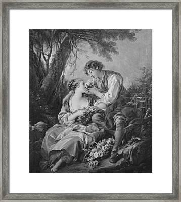 Pastoral Scene Framed Print by Francois Boucher